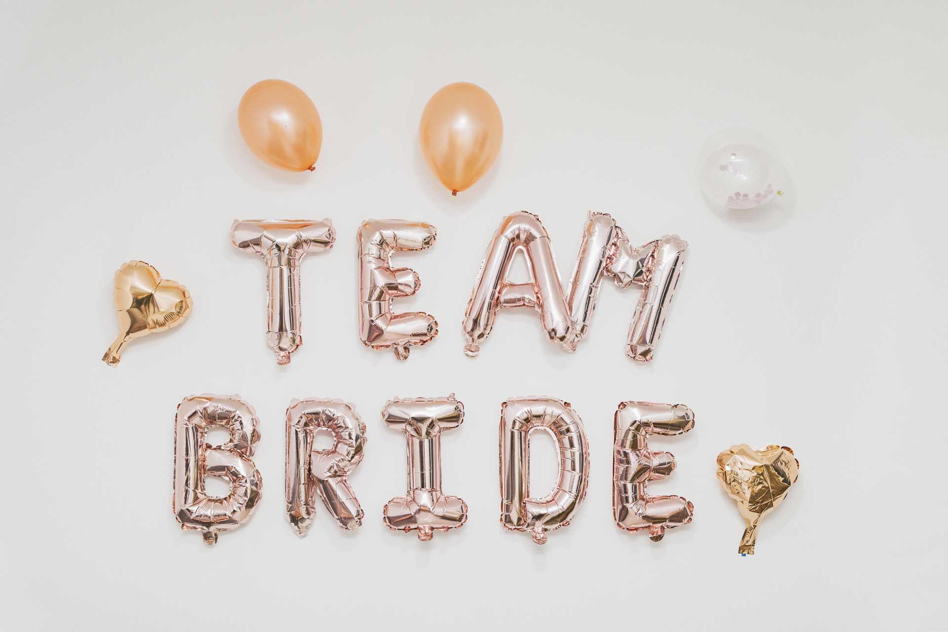 Best bachelorette party ideas Team Bride Ballons